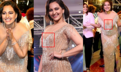 Sonakshi, who is always in charge, has also become a victim of Ops Moment, slipped dress and shown