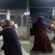 Viral Video: Female friend was exercising with husband, wife beat him by holding hair inside gym
