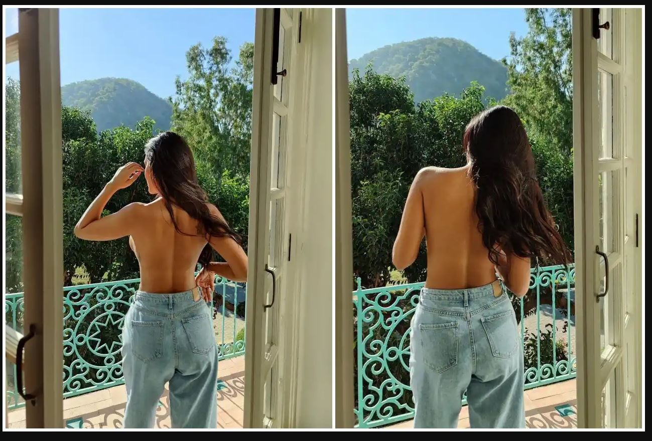 Actress Esha Gupta did topless photoshoot, posed while standing in the balcony, see photos